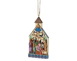 Szopka zawieszka NATIVITY CHURCH Hanging Ornament Collection 4041465 Jim Shore
