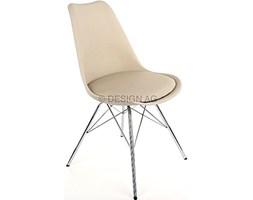 Mizag Krzesło do jadalni Skap szare nogi chromowe - GinaPorgy-Sz-CH