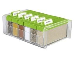 Pudełko na przyprawy + 6 pojemników Spice Box zielone