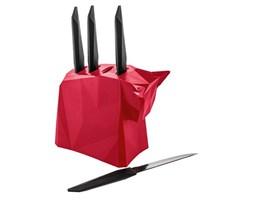 Zestaw noży na stojaku czerwony Pablo