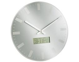 Zegar ścienny LCD Station (srebrny) Karlsson