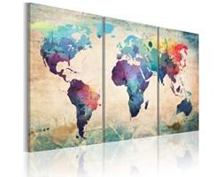 BIMAGO Obraz Świat malowany akwarelami