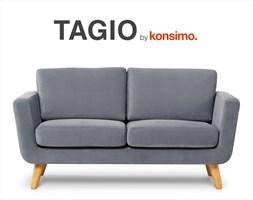 TAGIO sofa dwuosobowa skandynawska / KONSIMO.