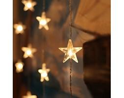 LED STAR - Girlanda oświetleniowa Gwiazdy LED Biały Dł. 3,9m