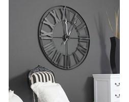 Matalowy zegar ścienny, styl rustykalny.