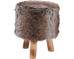 Taboret FUR BROWN, stołek, podnóżek