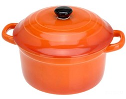 Ceramiczny garnek z pokrywką, naczynie żaroodporne 300 ml
