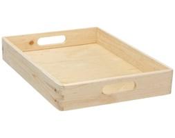 Drewniana taca do przechowywania, 40 x 30 x 7 cm, ZELLER