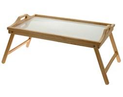 Drewniany stolik śniadaniowy, taca z nóżkami, 50x30 cm