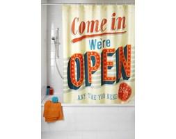 Zasłona prysznicowa, tekstylna, Vintage Open, 180x200 cm, WENKO