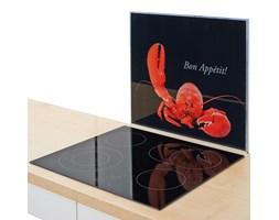 Szklana płyta ochronna HOMAR na kuchenkę – duża, kolor czarny, ZELLER