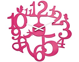 Zegar ścienny Pi:p, motyw leśny - kolor różowy, KOZIOL
