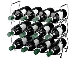 Metalowy stojak na wino - 3 sztuki w komplecie