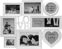 Ramka LOVE na 9 zdjęć