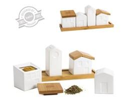 """Balvi: ceramiczny zestaw pojemników na przyprawy """"La Ville"""""""