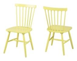 Żółte krzesło do jadalni Riano