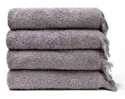 Komplet 4 szarych ręczników Casa Di Bassi Bath, 50x90 cm
