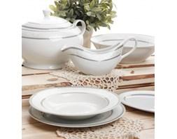 Serwis obiadowy AMBITION BARON SILVER na 12 osób (43 el.) -- biały, szary, srebrny - rabat 10 zł na pierwsze zakupy!