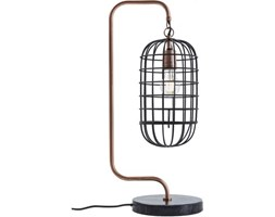 Lampa stołowa Golden Cage Roll Kare Design 38973