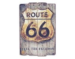 """Dekoracyjna tablica """"Route 66""""."""