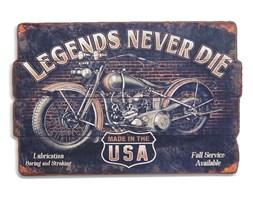 """Dekoracyjna tablica """"Legends never die""""."""