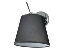 PP Design K 440 GREY KINKIET LAMPA ŚCIENNA CHROM ABAŻUR MATERIAŁ SZARY WŁĄCZNIK REGULOWANA E27 LED
