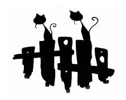 Wieszak Koty duży
