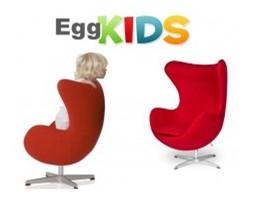 Fotel Jajo KIDS insp. Egg wełna kaszmirowa