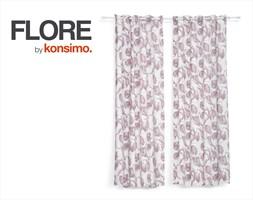 FLORE Zasłona 140x260 cm / KONSIMO.