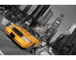Fototapeta new york city times square, taxi motion blur