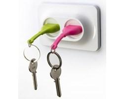 Naścienny uchwyt z zawieszkami na klucze QUALY Double Unplug, zielony/różowy
