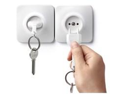 Zawieszka na klucze QUALY Unplug, biała