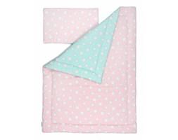 Pościel dziecięca 100x135 cm Pink & Mint Stars