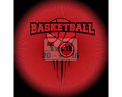 Naklejka basketball, a sports logo. the emblem appearing out of the darkness. Perfect on your black shirt! vector