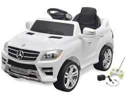 10094 Samochód elektryczny Biały Mercedes Benz ML350 6 V z pilotem