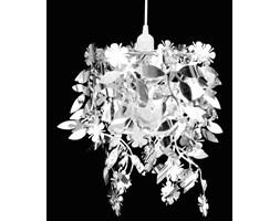 241129 Lampa wisząca z abażurem w kształcie liści 21,5 x 30 cm srebrna