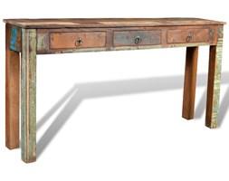 241137 Drewniane biurko z 3 szufladami