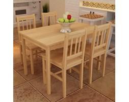 241220 Drewniany zestaw - 4 krzesła i stolik