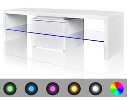 241305 Stojak na telewizor, biały, LED, 150 cm