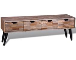 241710 Stolik z drewna tekowego / Konsola/ Szafka pod TV z 4 szufladami