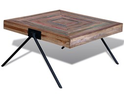 241712 Oryginalny stolik do kawy z odzyskiwanego drewna tekowego