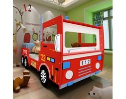 242096 Łóżko dziecięce czerwony wóz strażacki 200 x 90 cm