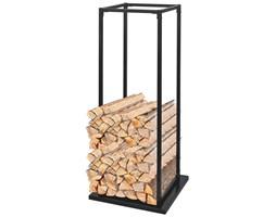 242448 Stojak, prostokątny kosz na drewno kominkowe z podstawą 115 cm