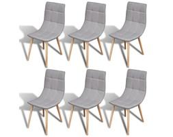 270718 Zestaw 6 krzeseł jadalnianych w kolorze jasnoszarym
