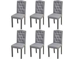 272247 6 krzeseł do jadalni z wysokim oparciem, pokrytych ciemnoszarą tkaniną