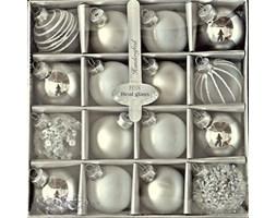 Bombka szklana Grey&Pearl&Silver kompl. 16 szt.