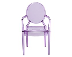 Krzesło D2 Royal Jr fioletowy transparentny kod: DK-48950 - do kupienia: www.superwnetrze.pl