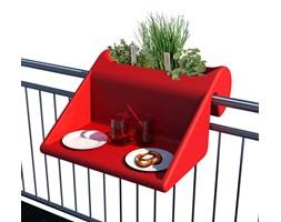Stolik z pojemnikiem na balkon Balkonzept Rephorm czerwony kod: RB002 - do kupienia: www.superwnetrze.pl