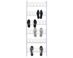 141145 Biały stalowy stelaż na buty na 18 par