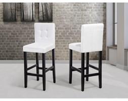 Fotel tapicerowany biały - krzesło barowe - MADISON